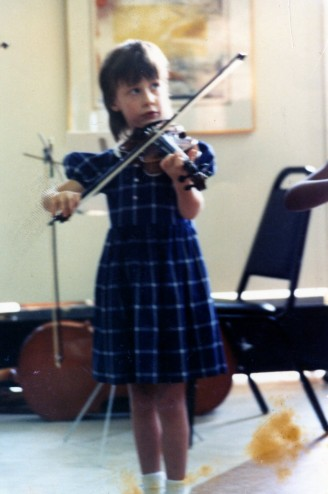 Angela Baxley playing Violin