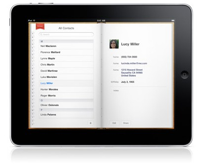Apple iPad and Google Contacts