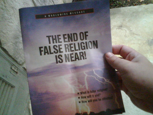 The Watchtower: The End of False Religion is Near!