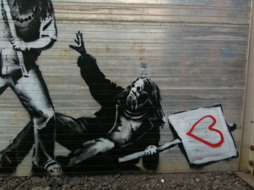 Banksy — Beaten for Love, San Diego