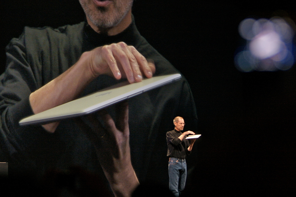 Steve Jobs (photo by Tom Coates)