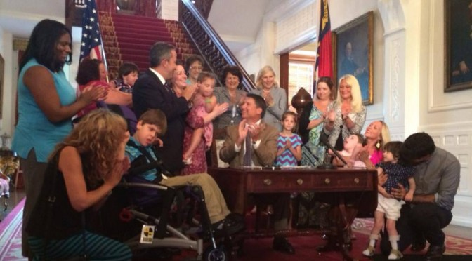 Governor McCrory signs Hope 4 Haley and Friends HB 1220