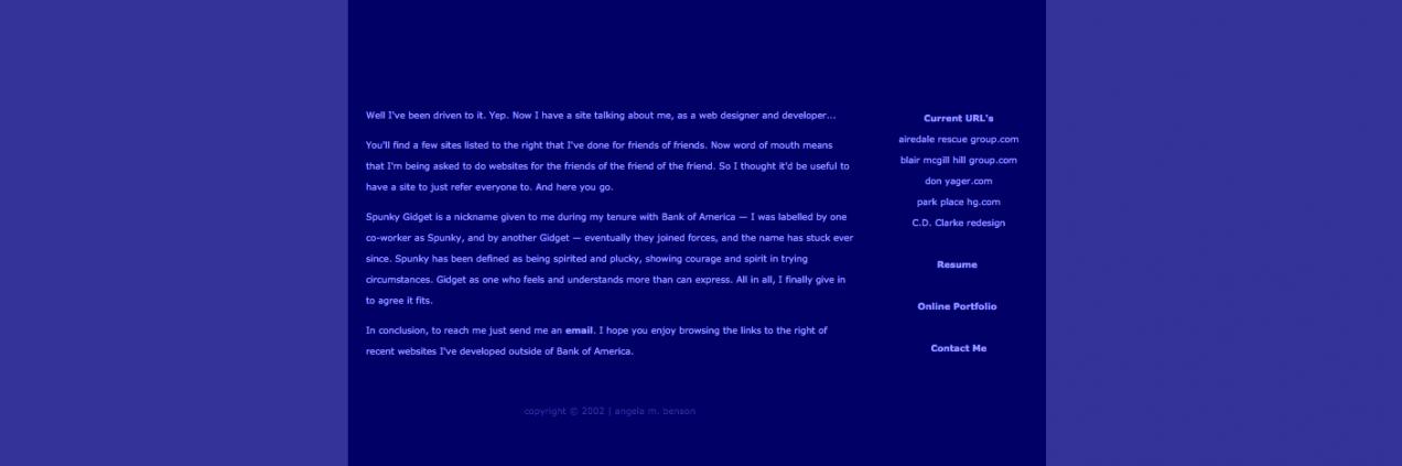 SpunkyGidget.com (Purple, 2002)