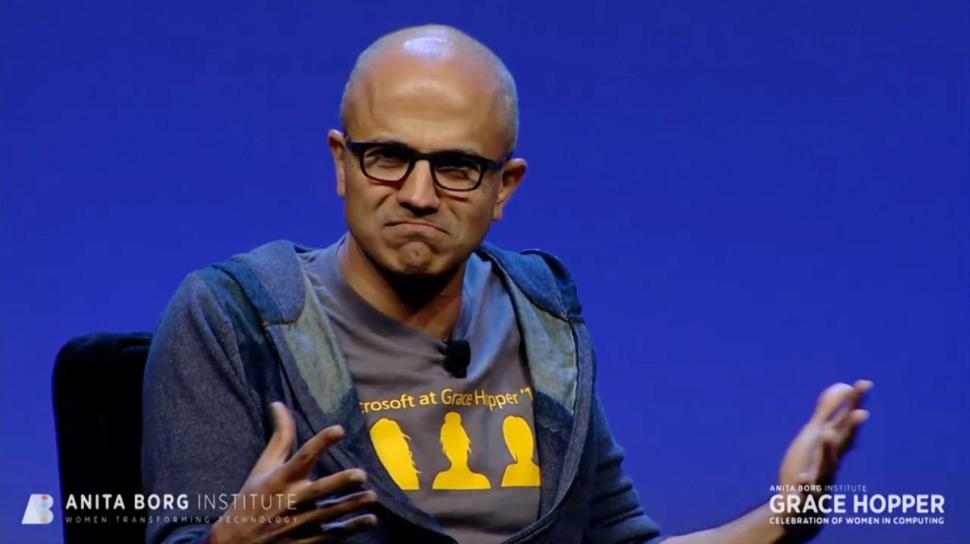 Satya Nadella at Anita Borg Institute 2014 Grace Hopper Celebration of Women in Computing