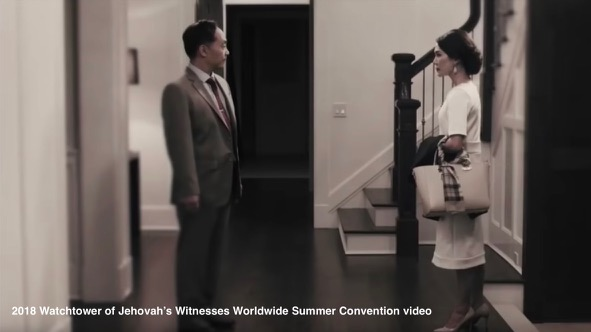 Wife Demonstrates How to Leave Husband in 2018 Watchtower of Jehovah's Witnesses Worldwide Summer Convention video